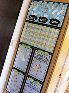 Kitchen Command Center:  Menu Board, Dry Erase Message Board, Magnet Board, Chore Charts...  WOW!  I LOVE THIS!!!!
