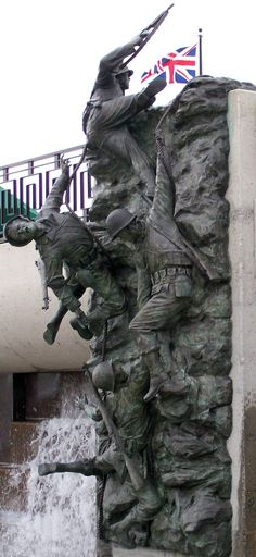 70 years ago today, thousands of heroes braved the beaches of Normandy in what became known as #DDay, the largest seaborne invasion in history. #veterans. Photo courtesy of the National D-Day Memorial.