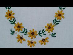 Basic Embroidery Stitches, Hand Embroidery Videos, Hand Embroidery Flowers, Hand Embroidery Tutorial, Hand Work Embroidery, Flower Embroidery Designs, Modern Embroidery, Cross Stitch Embroidery, Cross Stitch Patterns