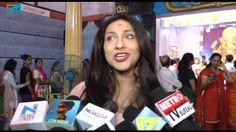 Actress Rituparna Sengupta Visit At Andheri Cha Raja