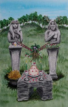 Summer Solstice - ☆ Litha or Midsummer «The Wheel of the Year» Takes place on or near the Summer Solstice. The Goddess is pregnant and ripe with the promise of the harvest soon to come. This is a time for charging and clearing crystals with the strongest sunshine of the year. Many also celebrate the turning of the year with a reenactment of the battle between the Holly and Oak Kings, with the Holly King winning to rule over the time of coming darkness