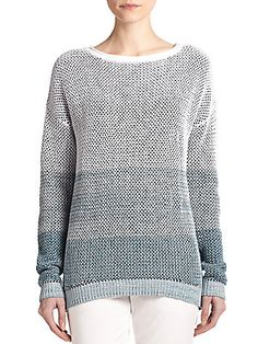 Vince Ombre Cotton Knit Sweater