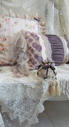 things vintage lsce flowers old | shabby style on Pinterest | Lace Heart, Shabby chic and Pink Roses