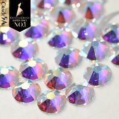 6854bfc1519f Swarovski crystals AB - HOTFIX flat back stones gems for design x 150 pcs  HOT