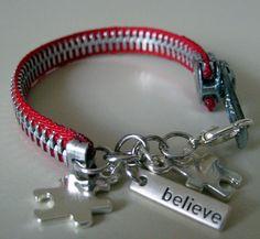Homemade zipper bracelet