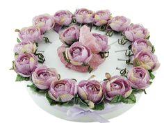 Torta bomboniera con fiori di rosa glicine