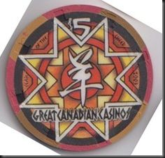This chips was issued by the Great Canadian Casinos in Vancouver, B.C. to celebrate Chinese New Year, 2003.  The chip is the same front and back.