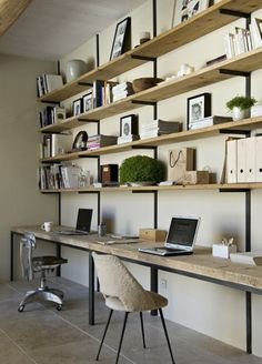 Office E As An Extension Of A Wall Shelving Unit Vs My Feng Shui Fears Having Back Exposed