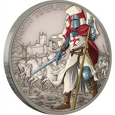 2017 1 oz Niue Silver Warriors of History Knights Templar Proof Coins from JM Bullion
