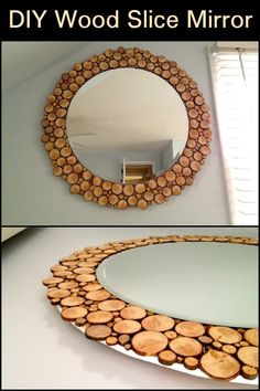 Diy Mirror, mirror on the wall. looking for a weekend DIY project? Then this mirror could be just what you're looking for. Diy Wall Decor For Bedroom, Home Decor Mirrors, Diy Wand, Diy Mirror, Mirror Ideas, Mirror Bedroom, Bedroom Sets, Wood Mirror, Bedroom Curtains