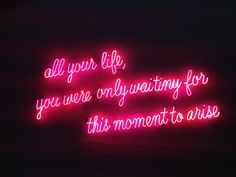 Image uploaded by ✭⋆saart_je⋆✮. Find images and videos about pink, quotes and neon on We Heart It - the app to get lost in what you love. Motivacional Quotes, Neon Quotes, Pink Quotes, Pink Tumblr Aesthetic, Neon Aesthetic, Quote Aesthetic, Neon Light Signs, Neon Signs, Neon Rouge