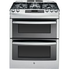 Ge Profile 5-Burner 6.8-Cu Ft Slide-In Convection Gas Range (Stainless