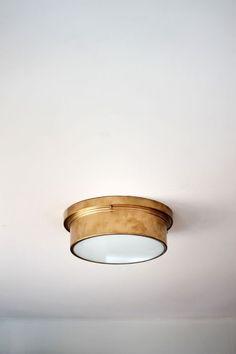$45 Flush Mount Light Fixture via @Home Depot