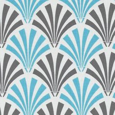 Camelot Blue and Grey Deco Fans