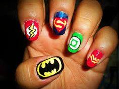 geeky nail art -