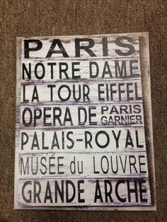 Missing France? Add this canvas to any wall in your home!
