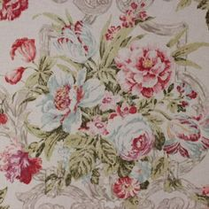 P Kaufmann Ashmont Putty -The Fabric Mill Stash Fabrics, Country Cottages, Living Room, Rugs, Floral, Home Decor, Farmhouse Rugs, Flowers, Sitting Rooms