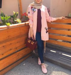 Hijab Fashion Summer, Street Hijab Fashion, Muslim Fashion, Modest Fashion, Hijab Chic, Hijab Casual, Casual Hijab Styles, Hijab Dress, Hijab Outfit