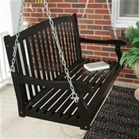 4ft Outdoor Wood Porch Swing
