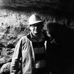 L.A Richards caving in North Wales.  This visit to Wales, greatly inspired L.A to write a children's book about a powerful dragon.  The story is called 'Dragon Rock'