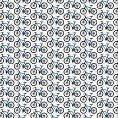 Mountain Bike blue TINY fabric by andibird on Spoonflower - custom fabric