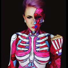 This Bodypainter Transforms Herself Into Beautiful Nightmares (15 photos)