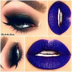 Love this lip! Squires Taylor Cosmetics lipstick in dgaf Goth Makeup, Sexy Makeup, Blue Makeup, Beauty Makeup, Makeup Goals, Makeup Collage, Beauty And The Beat, Blue Lips, Melt Cosmetics