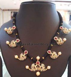 Black Thread Pachi Necklaces - Jewellery Designs