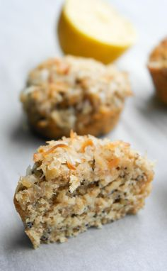 Lemon Poppyseed Whole Wheat Oatmeal Muffins