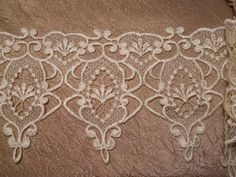 embroidery idea: lace in embroidery