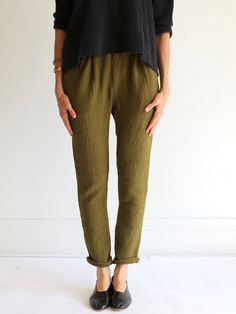 // MILLE   Black Crane Quilt Pant - All colors