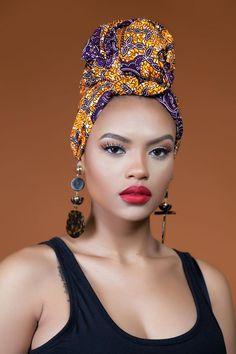 African Print Tindo Headwrap  Grass-Fields  Tie it! Twist it! Tuck it!
