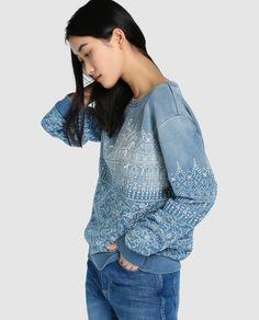 Sudadera de mujer Pepe Jeans azul estampada · Pepe Jeans · Moda · El Corte Inglés