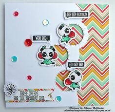 My Favourite Things die Peek a boo & Clearly Besotted stamp set Cheering For You.