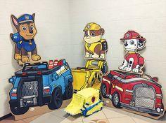 Paw Patrol cardboard decorations
