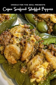 Decadent, overstuffed peppers with lump crab, shrimp, and Italian sausage! It's a meal in a pepper!