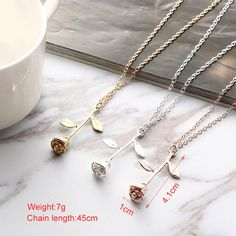 Necklace type: Pendant Necklace  Material: Alloy  Color: gold, silver, rose gold  Chain length: 45cm  Pendant Size: 4.1*1cm  Weight: about 7g