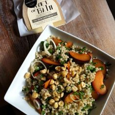 Come to our cheese shop in Kelston, enjoy a lovely salad of pearl couscous, plums and hazelnuts with some of our #artisancheese. Extra mature Wyfe of Bath will be perfect! #bathfood #localfood #foodporn #foodstagram #foodpics