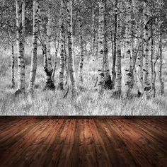 """Fototapete """"Wald"""" hat durch ihre Tiefe eine raumvergrößernde Wirkung. Schöner Wohnen"""