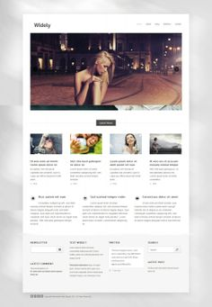 Widely: Free Photography WordPress Theme Foto Website, Free Photography, Wordpress Theme, Web Design, Business, Design Web, Store, Business Illustration
