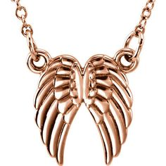 14k Gold Petite Angel Wings Necklace