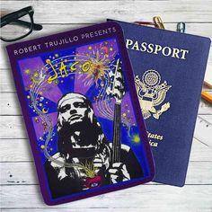 Robert Trujillo Jaco Metallica Leather Passport Wallet Case Cover