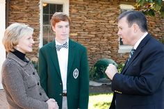 An image of Governor Perdue on Christ School campus, speaking to a student and the Headmaster. We are very grateful to have welcomed Governor Perdue to Christ School!