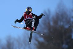 Nico Porteous of New Zealand in action during the FIS Freestyle World Cup Ski Halfpipe Qualification at Bokwang Snow Park on February in Pyeongchang-gun, South Korea. World Cup Skiing, Photos Of The Week, South Korea, New Zealand, Gun, February, Darth Vader, Action, Snow
