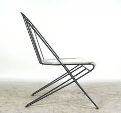 wire chair, france, 1950s