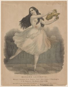 Madame Lecompte. Principal danseuse at the Theatres Royal Paris, London, St. Petersburg & in the character of the abbess, in Robert le diable. [Lithograph] EWC [Edward Williams Clay].