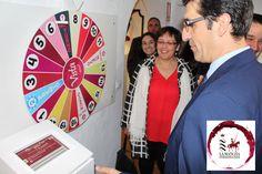 El Presidente de la Diputación de Ciudad Real, José Manuel Caballero en su visita por el nuevo museo de interpretación del vino en la sede del CRDO La Mancha.