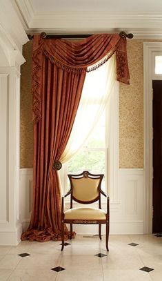 Awesome Window Treatment Ideas and Curtain Designs Photos - View our collection of developer window therapies and custom window treatments for your residence. From ranch shutters to very easy DIY draperies, locate ideas for updating your decoration. Hang Curtains Like A Pro, Hanging Curtains, Drapes Curtains, Valances, Rustic Furniture, Furniture Design, Rideaux Design, Interior Decorating, Interior Design