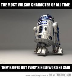 I'd love to hear someone overdub all R2D2's lines with Samuel Jackson quotes. Make it so internets.