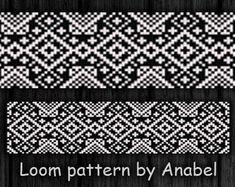 Bead loom pattern Square stitch pattern par ColorfulBeadPatterns
